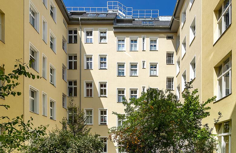 Fassadensanierung Berlin Wilmersdorf – Hofansicht