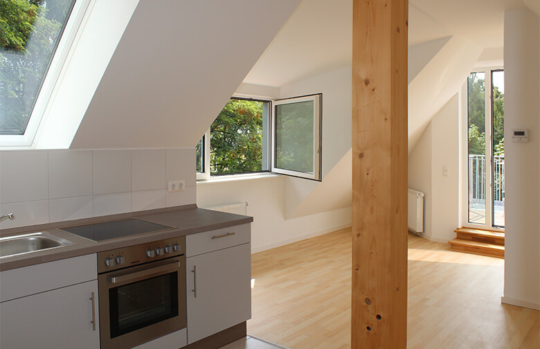 Innenausbau des Dachgeschosses Berlin Pankow