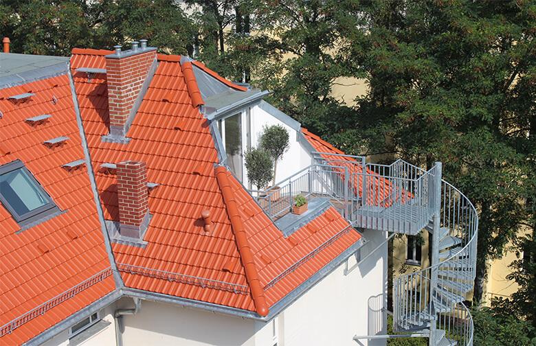 Außenansicht des neuen Dachgeschosses Berlin Pankow