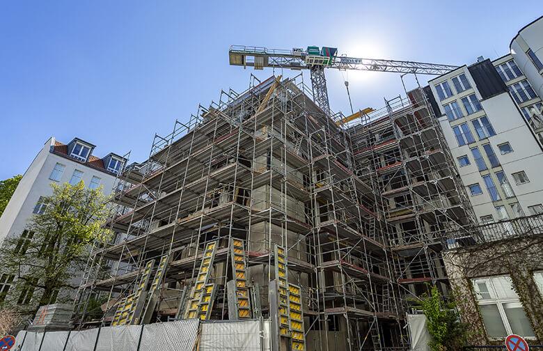 Baustelle Lietzenburger Straße –Hofansicht