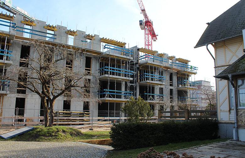 Bauabschnitt Obergeschosse – Vela Suitenhotel in Ahlbeck