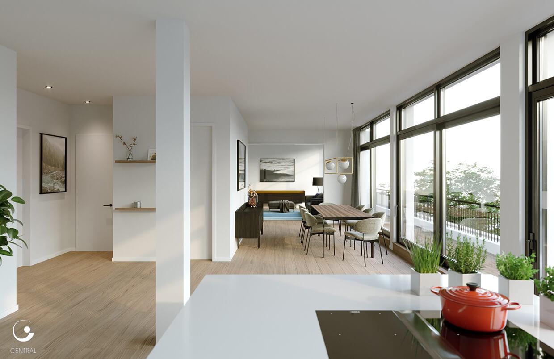 Wohnraumgestaltung (Rendering) des Projekts Zähringerstraße in Berlin